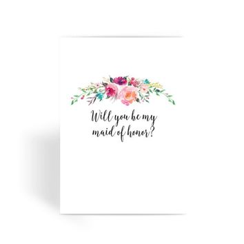 Maid of Honor Proposal Card