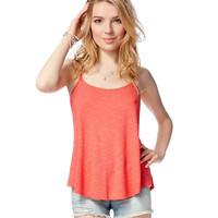 Aeropostale Womens Open-Back Pinstripe Tank Top -