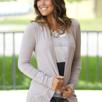 Mocha Cardigan with Pockets