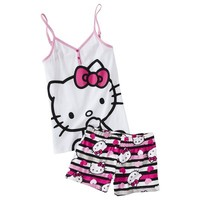 Hello Kitty® Junior's Tank & Short Sleep Set - White