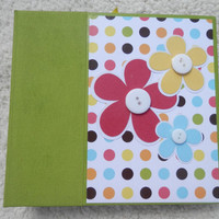 6x6 Floral Chipboard Scrapbook Album
