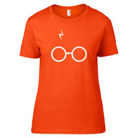 Harry Potter Inspired Clothing - Glasses & Scar Crew Neck - Ladies