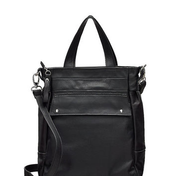 Black Convertible Backpack Tote Handbag Purse  - Laptop Bag Tote - ARTE