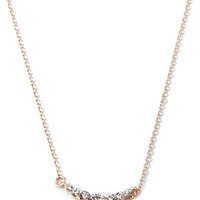 Rhinestone Line Charm Necklace