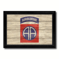 US Army 82nd Airborne Military Flag Texture Canvas Print with Black Picture Frame Gift Ideas Home Decor Wall Art