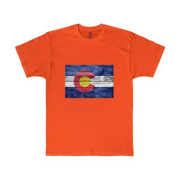 Colorado rusted flag lots of colors Tshirt