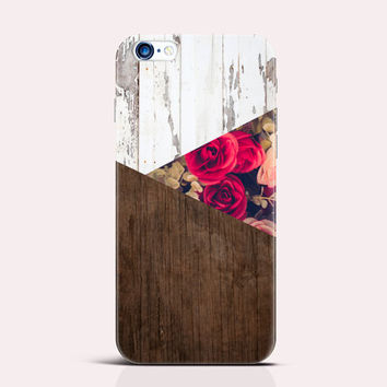 iPhone 6 Case Wood LG G3 Case Rose iPhone Cover S6 Edge Case iPhone 5 Case Floral iPhone Case Geometric Case wood Note 4 Case iPhone 5s Case