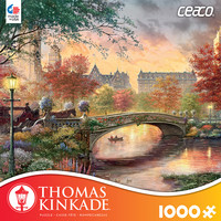 Thomas Kinkade 1000 Piece Puzzle -Autumn in New York