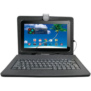 """Proscan 10"""" Bluetooth Quad Core Tablet With 8gb Memory Case & Keyboard"""