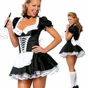 MOONIGHT Female Apparel Maid Lingerie Costume Role Play French Maid Costume Cosplay Dress
