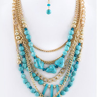 Multi-Layered Turquoise Necklace   The Handmade Hustle
