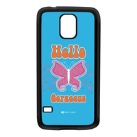 Sassy - Hello Gorgeous 10433 Black Silicon Rubber Case for Galaxy S5 by Sassy Slang