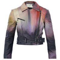 Versicolour leather biker jacket | Mary Katrantzou | MATCHESFA...