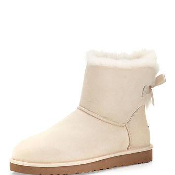 Mini Bailey Bow-Back Boot, Salt (Off White) - UGG Australia - Salt (off-white)