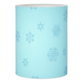 Blue Snowflakes Flameless Candle
