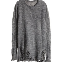 H&M - Knit Sweater - Dark gray - Ladies