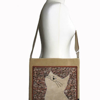 Napoleon the Cat and the Wall Corduroy OOAK Ready to Ship by ifONA