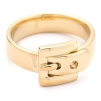 Michael Kors Jet Set Glamour Buckle Ring | SHOPBOP