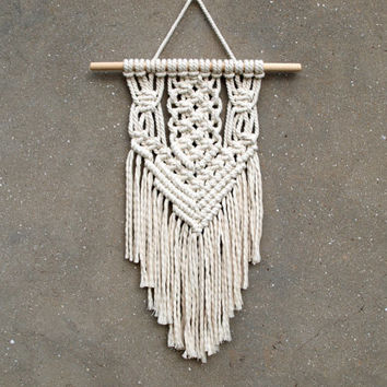 Ready to ship Wall hanging tapestry Macrame wall decor Bohemian wall art Boho interior design Gift for aunt Gypsy style Unique design