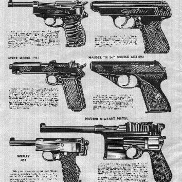 War Pistols Ad 1948 11inx17in Mini Art Poster