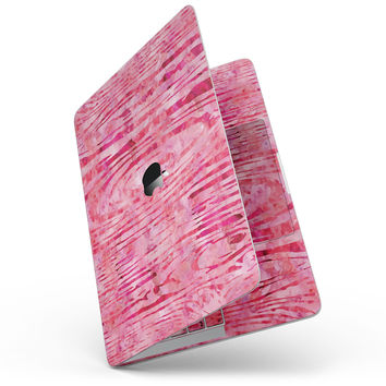 Pink Watercolor Woodgrain - MacBook Pro without Touch Bar Skin Kit