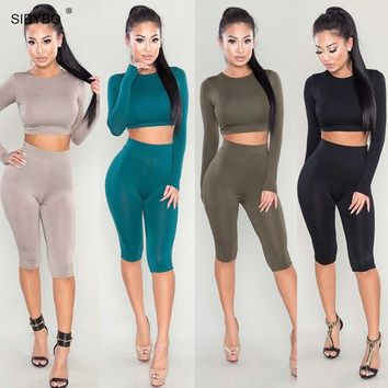 Summer Sexy women Jumpsuit Romper Slim OL Playsuit Long sleeve bandage Bodaycon Long Night Club Two Pieces Outfits Bodysuit
