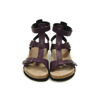 Cheap Birkenstock Chania Women's Fashion Birko-Flor Sandals (Purple) on sale!!!