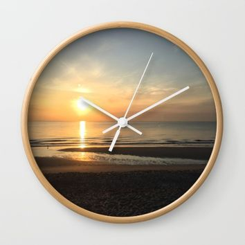 What a View Wall Clock by Gwendalyn Abrams