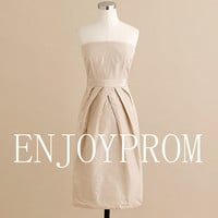 Sheath/Column Strapless Taffeta  KneeLength by enjoyprom on Etsy