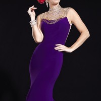Beaded Open Back Gown by Panoply