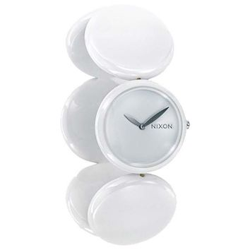 Nixon A097100 Women's Spree White Polycarbonate Circular Design Expansion Band Watch