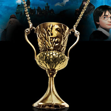 HARRY POTTER and The Goblet of Fire Hufflepuff's Cup Pendant Horcrux Necklace-Christmas gifts