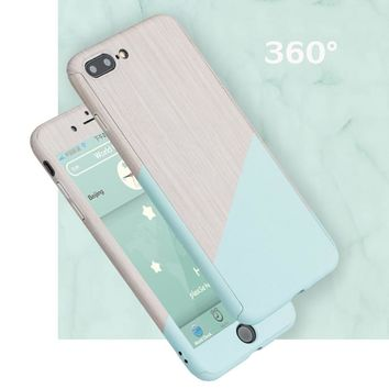 New 360 Full Marble Stone Case For iPhone 7 8 6 6S Plus Ultra-thin Shockproof Protective Coques For iPhone X 10 5 5S SE Fundas
