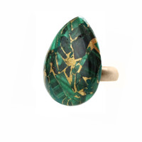 Green Malachite Stone Ring