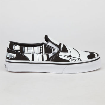 Vans Star Wars Classic Slip-On Boys Shoes Stormtrooper  In Sizes