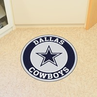 Dallas Cowboys Roundel Mat Round Area Rug