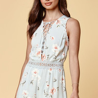 Kendall and Kylie Lace-Up Front Romper at PacSun.com