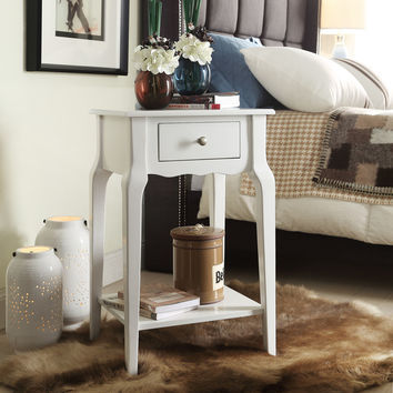 Mayfair Rubberwood Accent Table with Drawer and Shelf by Home Creek