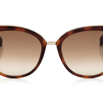 Jimmy Choo - Dana Havana and Black Acetate Cat Eye with Chain Detail Sunglasses