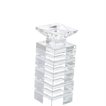 Charming Clear Crystal Candle Holder -Sagebrook Home