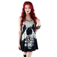 "Women's ""Loose Tooth"" Jersey Dress by Iron Fist (Black)"