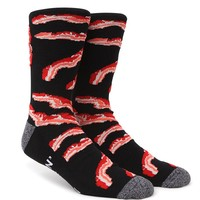 On The Byas Bacon Crew Socks - Mens Socks - Black - One