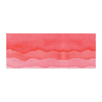 "Kess Original ""Ombre Cherries"" Pink Abstract Bed Runner"