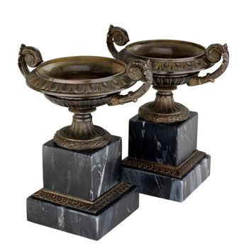 Black Marble Vase (set of 2) | Eichholtz Bresson