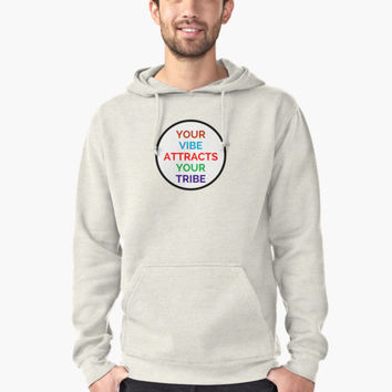 'YOUR VIBE ATTRACTS YOUR TRIBE' T-Shirt by IdeasForArtists