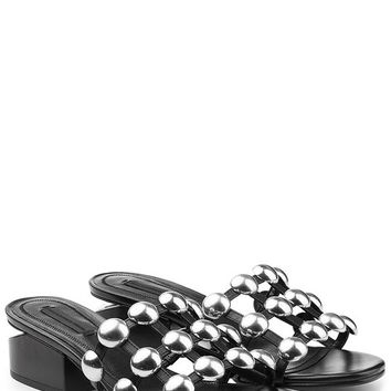 Studded Leather Sandals - Alexander Wang | WOMEN | US STYLEBOP.COM