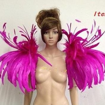 Carnival Dance Cosplay Feather Shoulder Costumes Wings