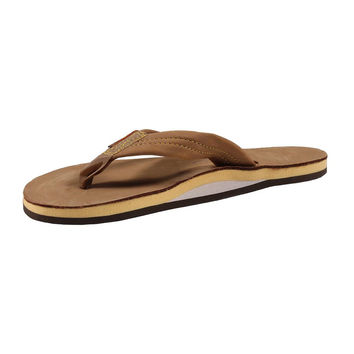 Women's Single Layer Premier Leather Sandal in Sierra Brown with Lemon Arch by Rainbow Sandals