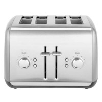 KitchenAid KMT4115CU Contour Silver Four Slice Toaster with Manual Lift