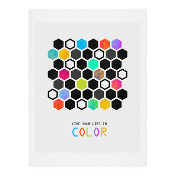 Elisabeth Fredriksson Hexagons Art Print